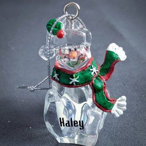 Haley Christmas Ornament Personalized Name Snowman